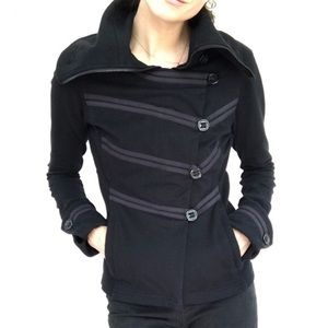 Lululemon Admiral Jacket Military Coat Army Button